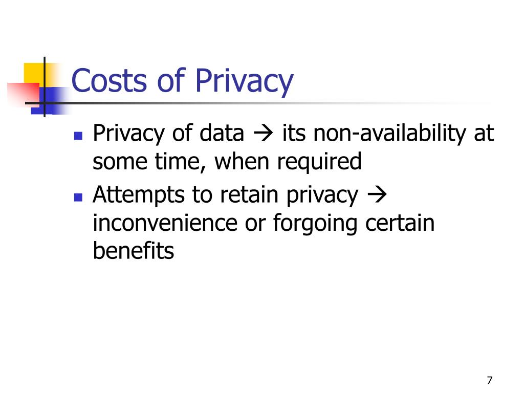 Costs of Privacy