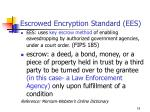 escrowed encryption standard ees
