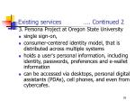 existing services continued 2