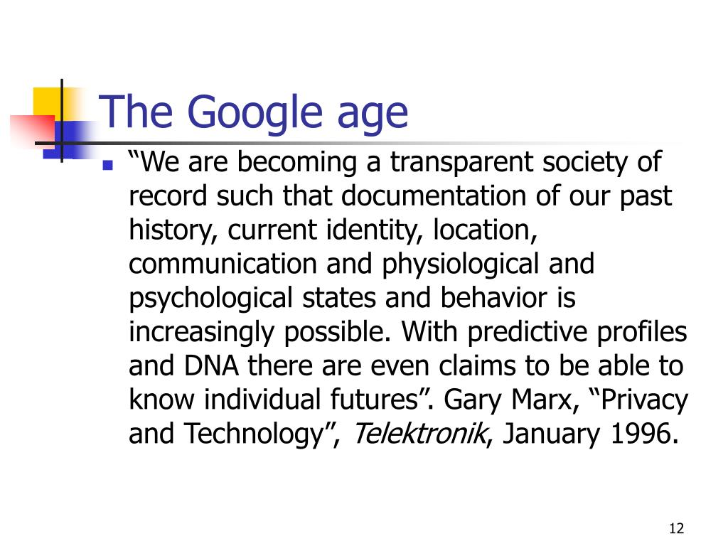 The Google age