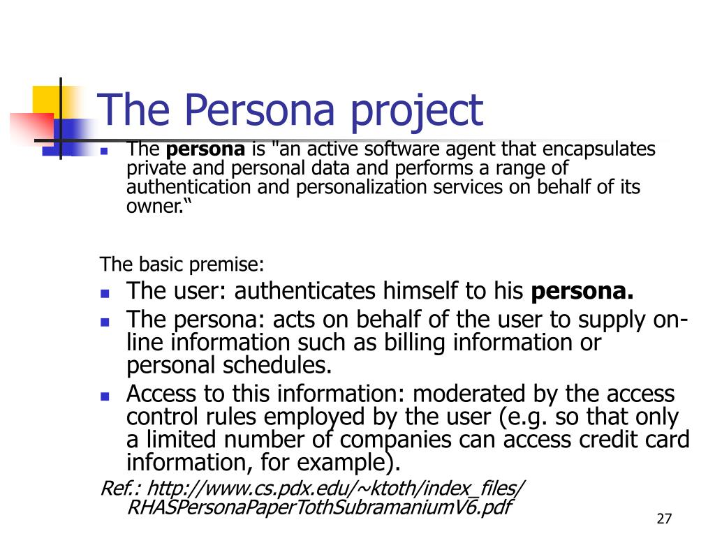 The Persona project