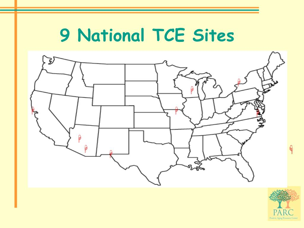 9 National TCE Sites