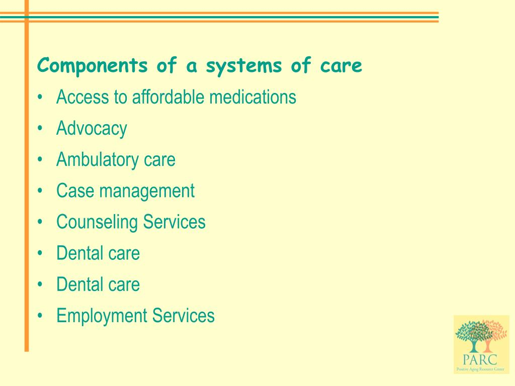 Components of a systems of care