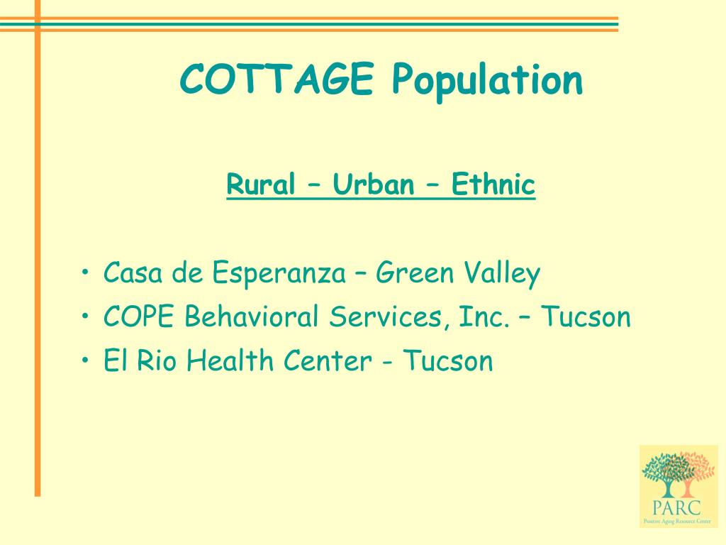 COTTAGE Population