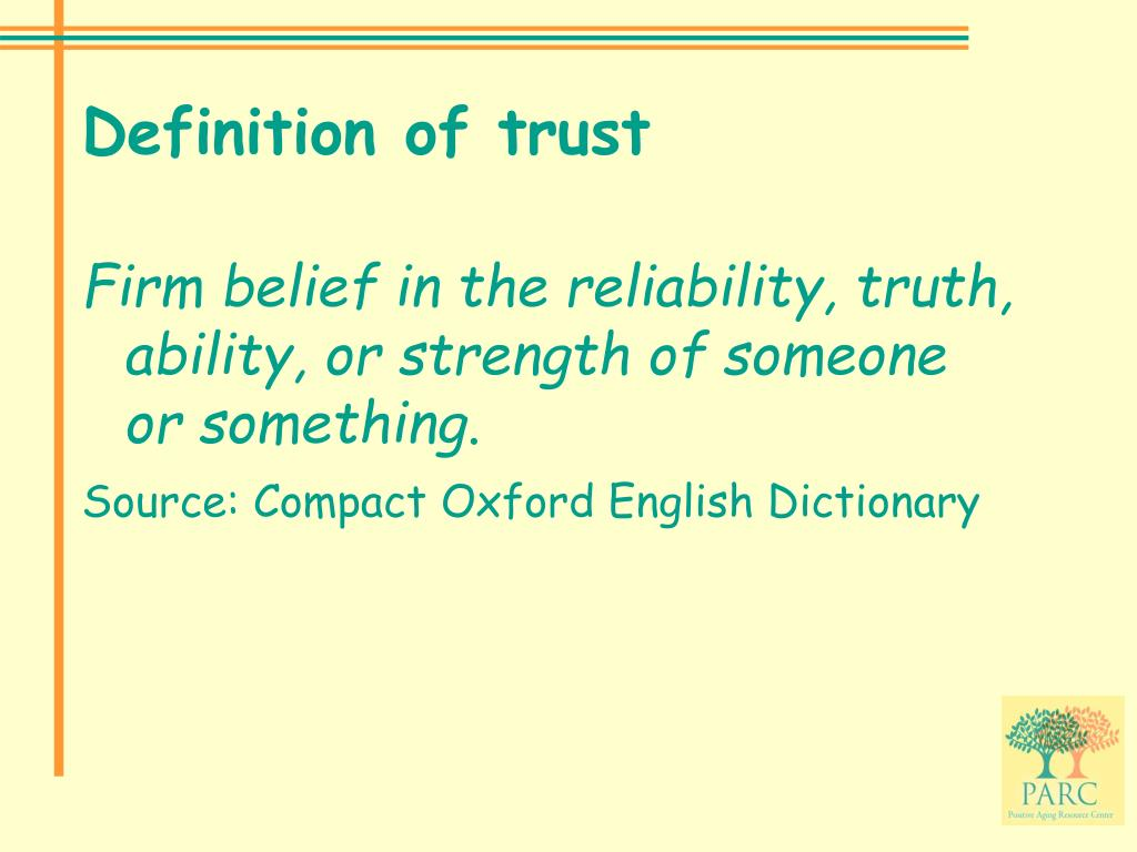 Definition of trust