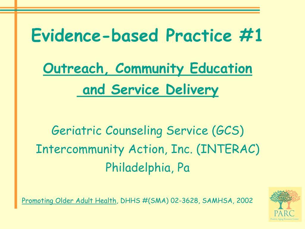 Evidence-based Practice #1