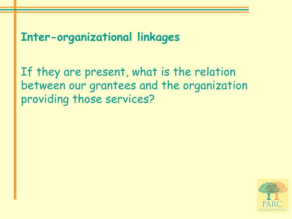 Inter-organizational linkages