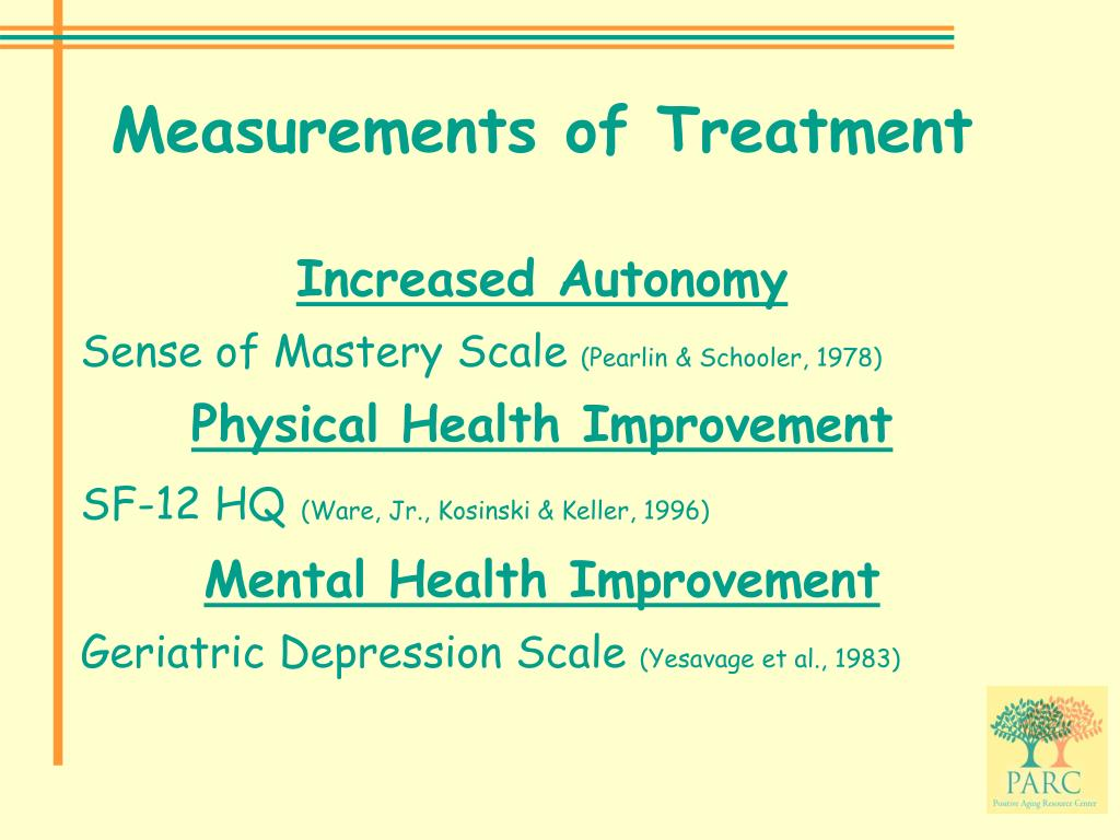Measurements of Treatment