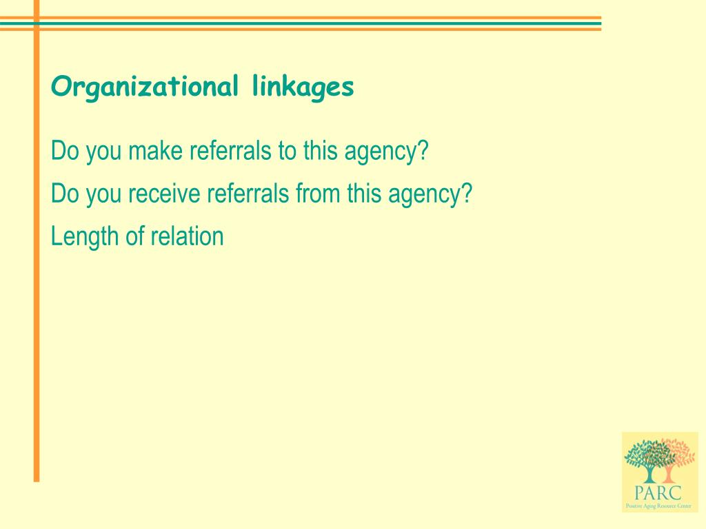Organizational linkages