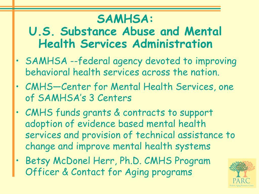 SAMHSA: