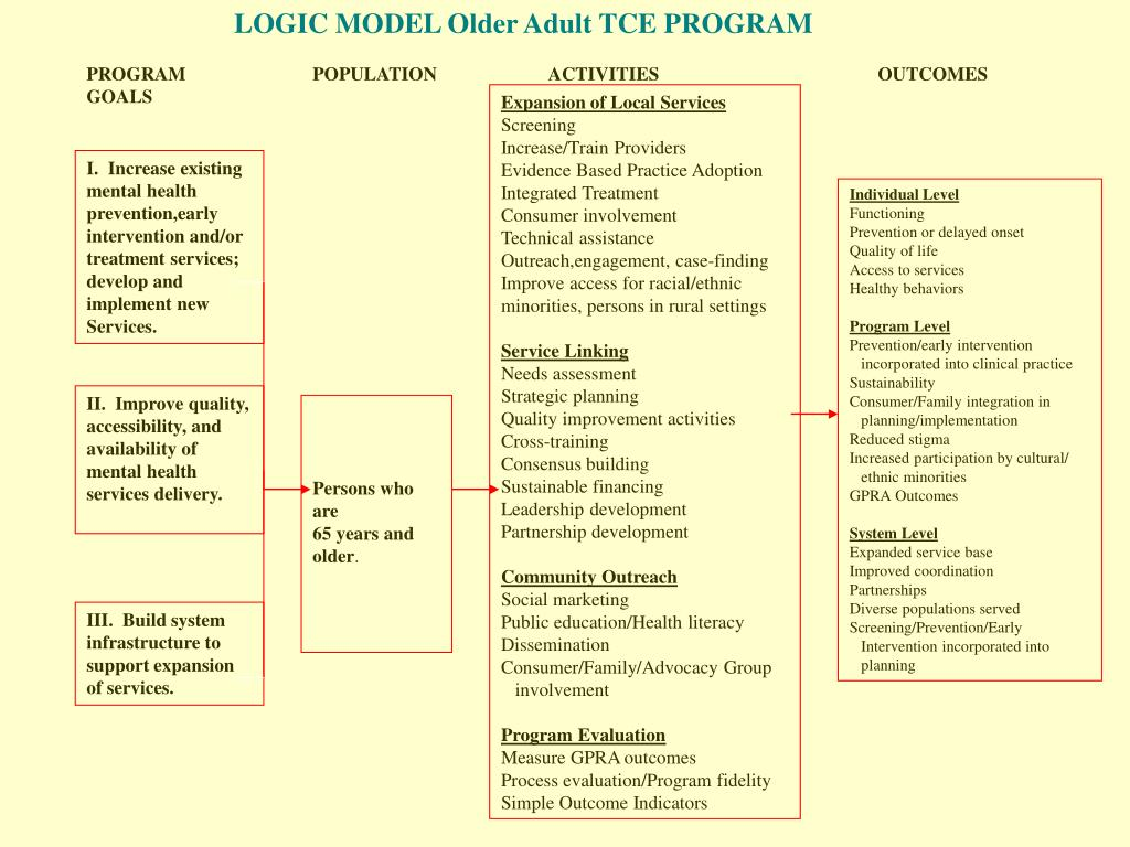 LOGIC MODEL Older Adult TCE PROGRAM