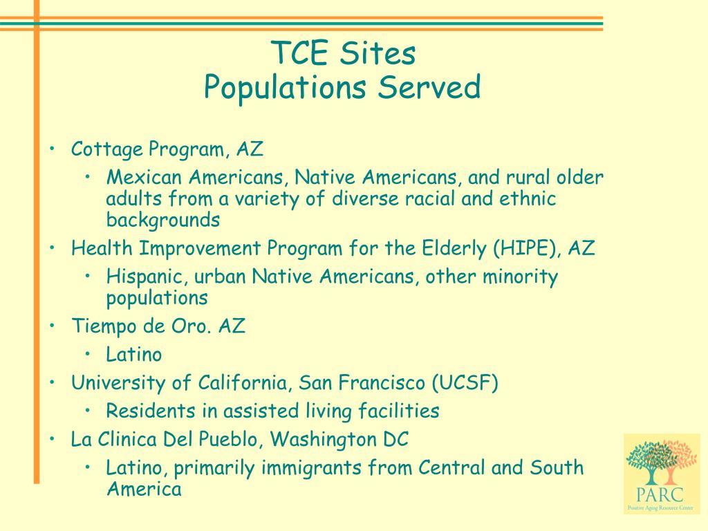 TCE Sites