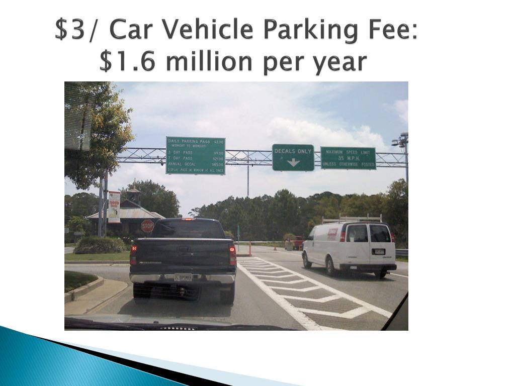 $3/ Car Vehicle Parking Fee: