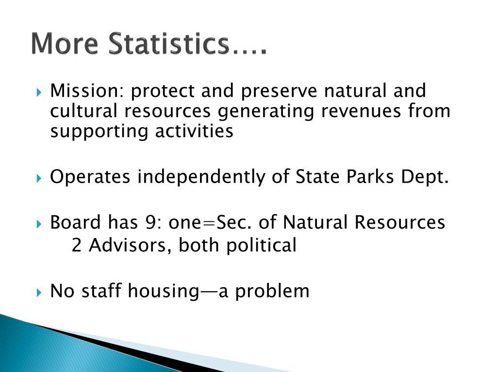 More Statistics….