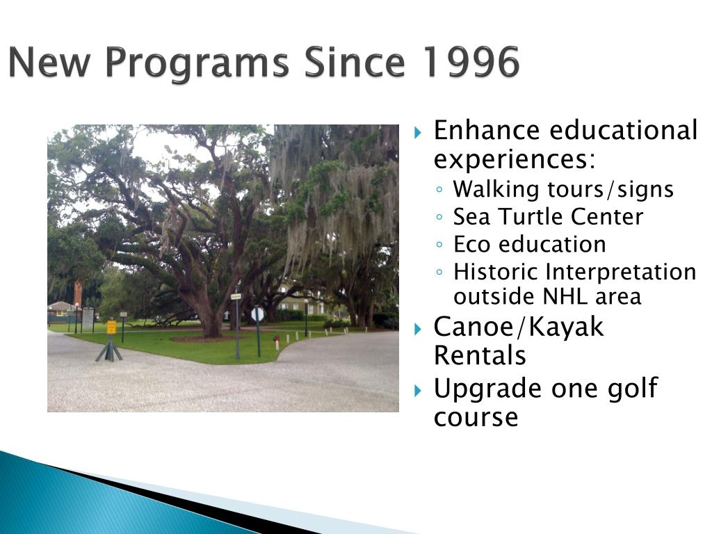 New Programs Since 1996