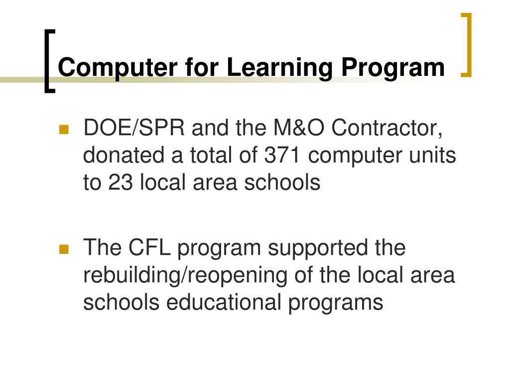 Computer for Learning Program