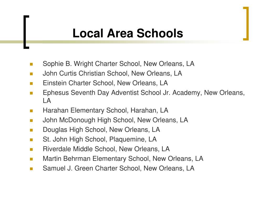 Local Area Schools