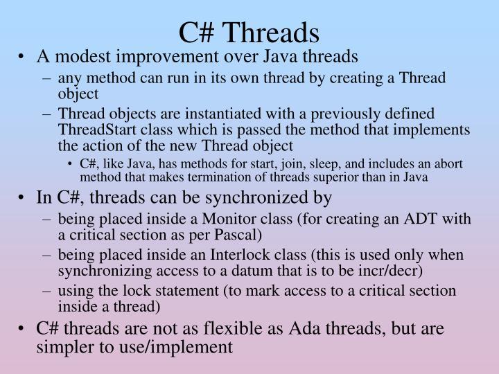C# Threads