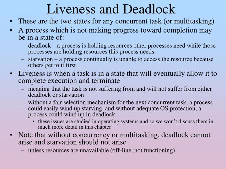 Liveness and Deadlock