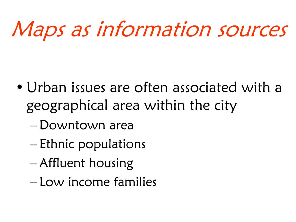 Maps as information sources