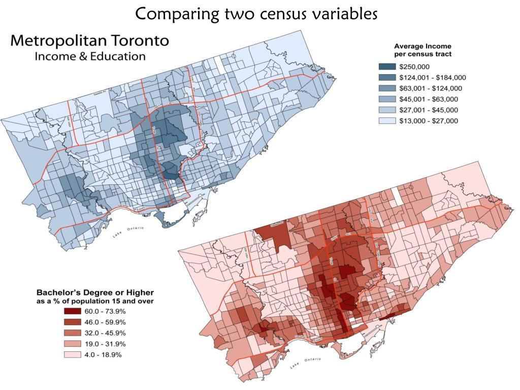 Comparing two census variables