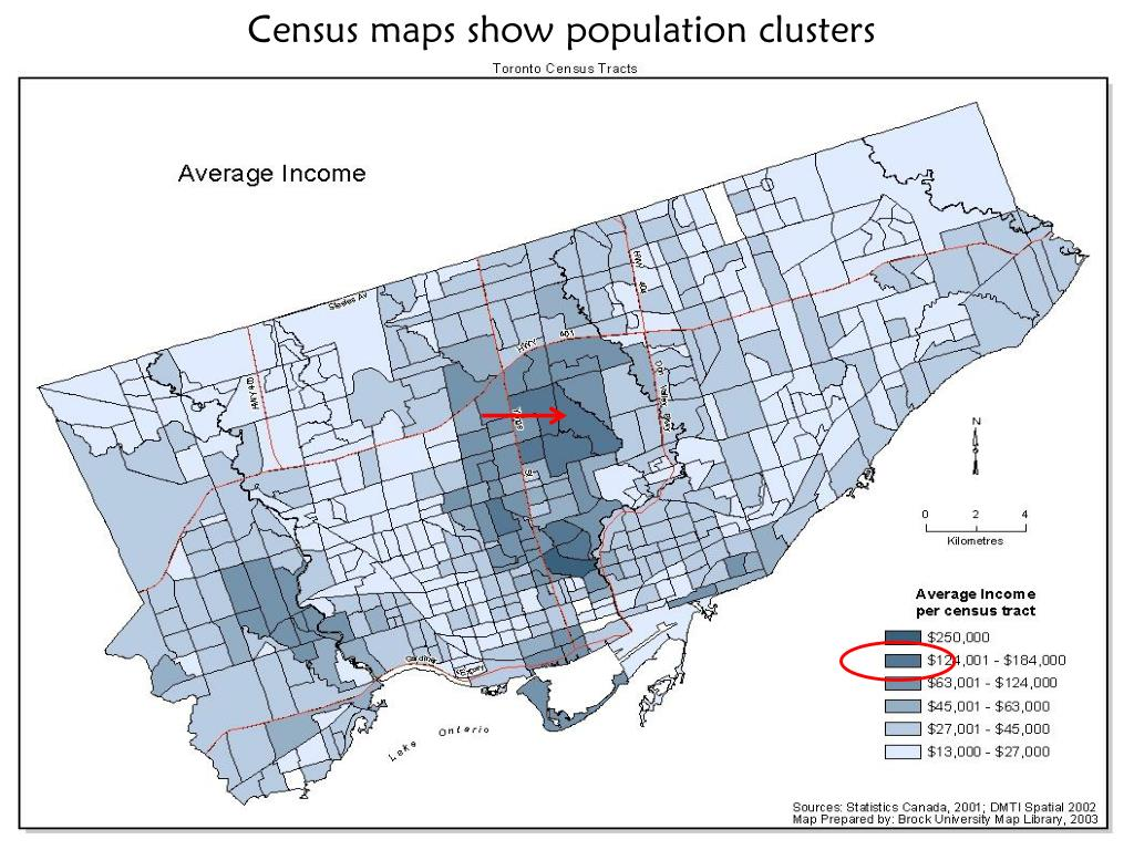 Census maps show population clusters