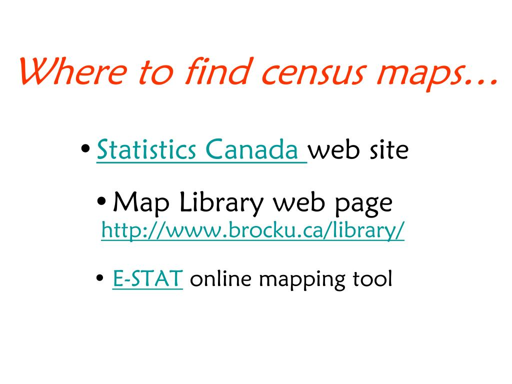 Where to find census maps…