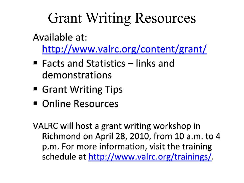 Grant Writing Resources