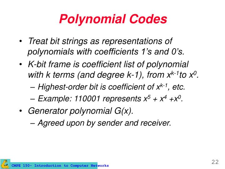 Polynomial Codes
