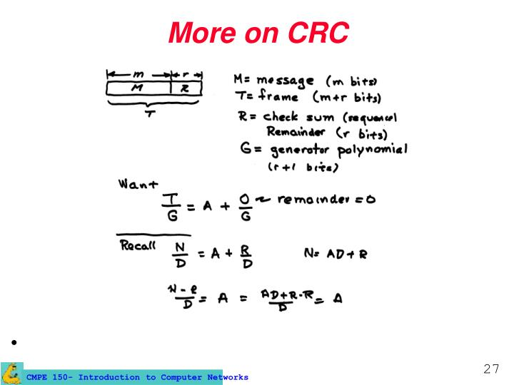 More on CRC