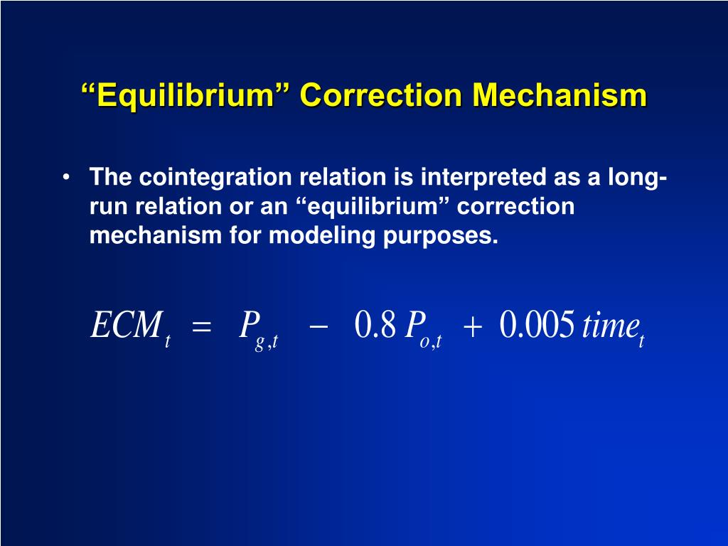 """Equilibrium"" Correction Mechanism"