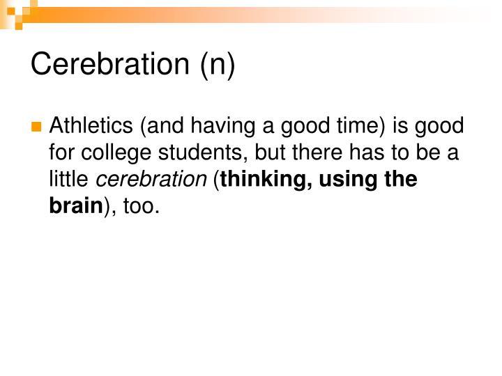 Cerebration (n)