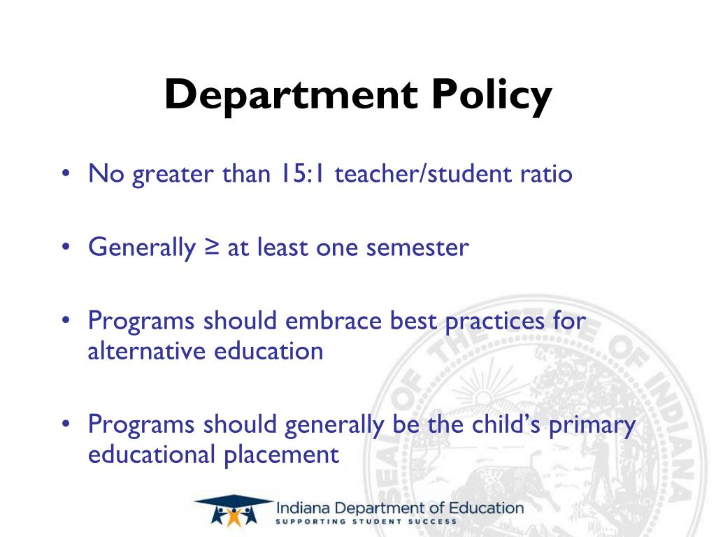 Department Policy