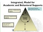 integrated model for academic and behavioral supports