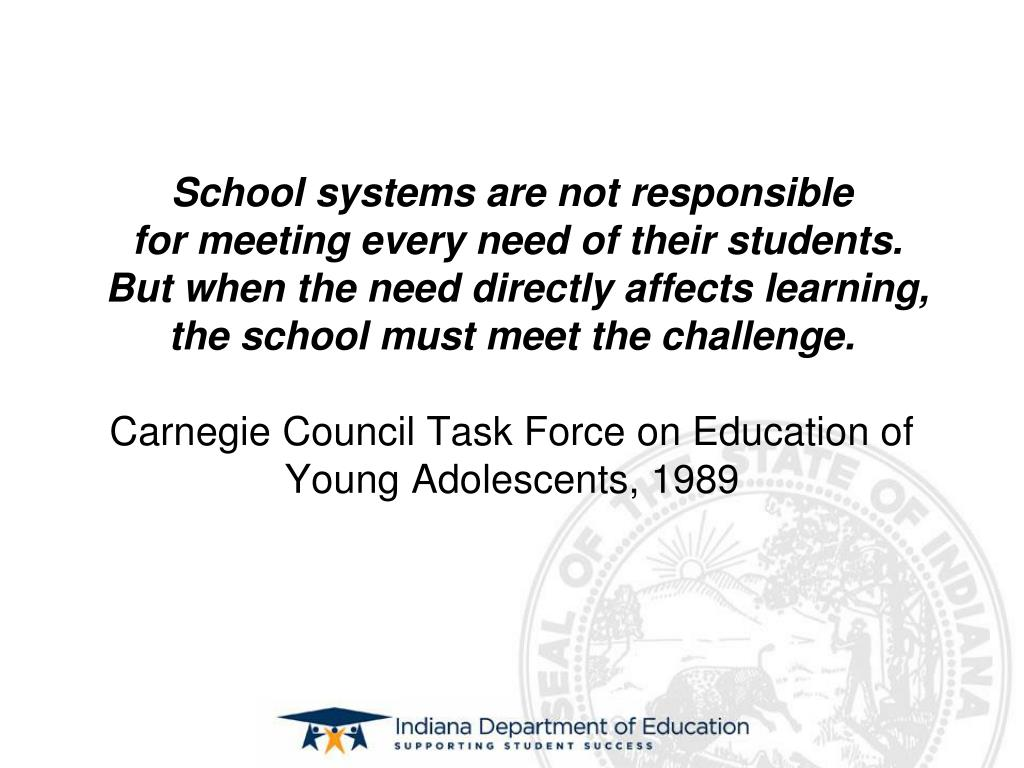 School systems are not responsible