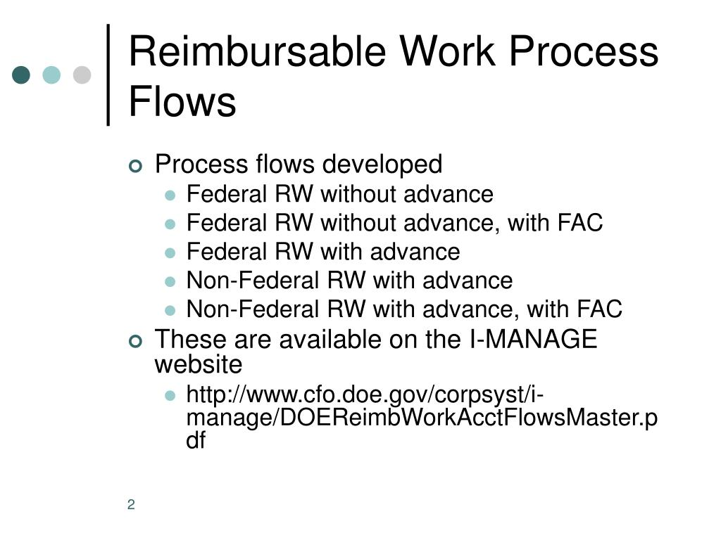 Reimbursable Work Process Flows