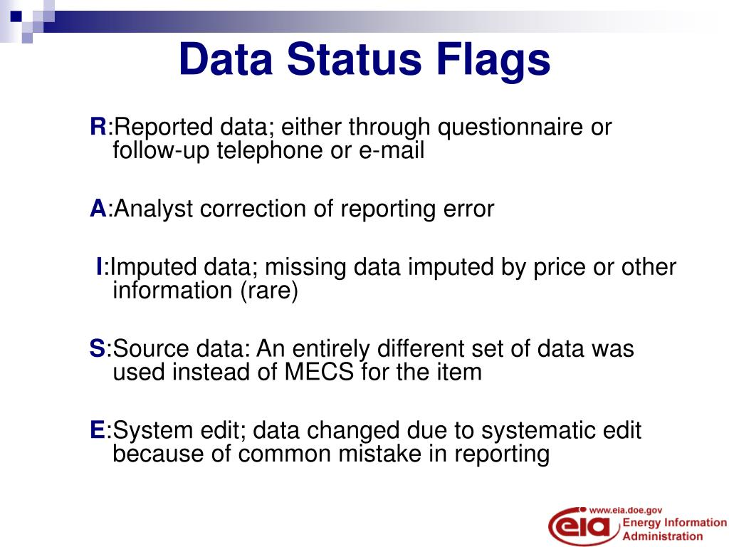 Data Status Flags