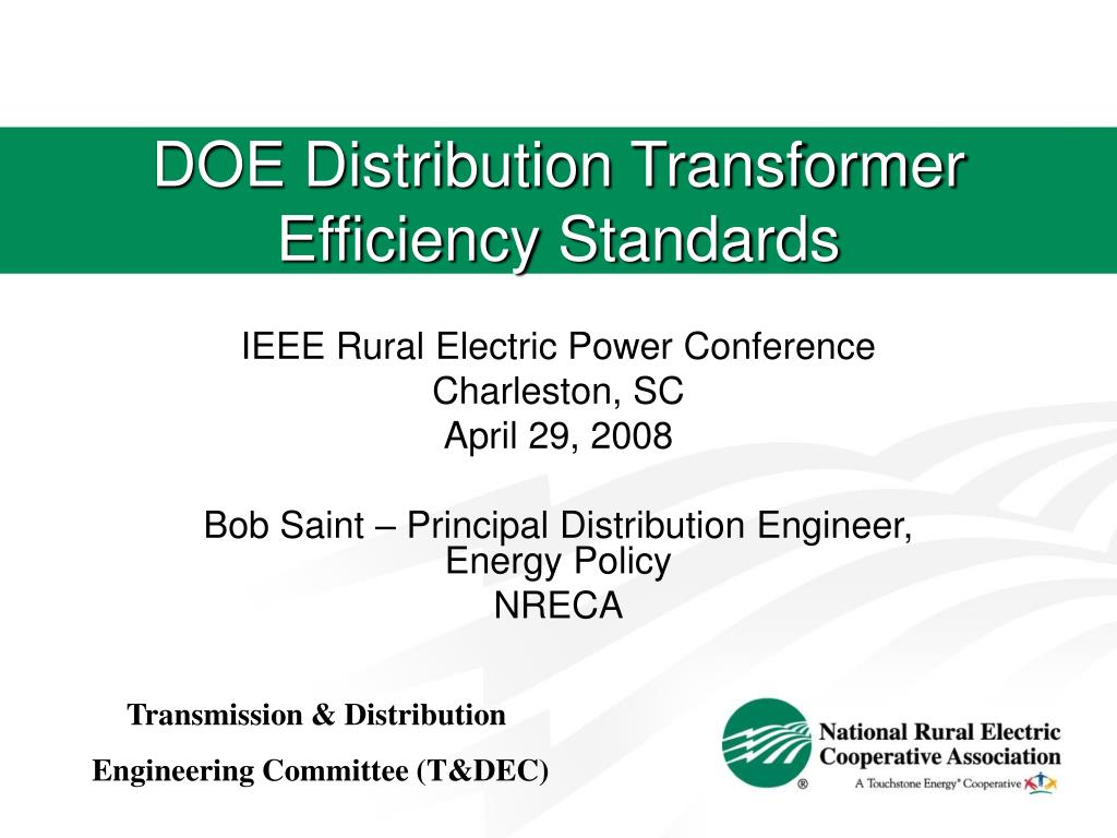 DOE Distribution Transformer Efficiency Standards