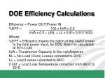 doe efficiency calculations