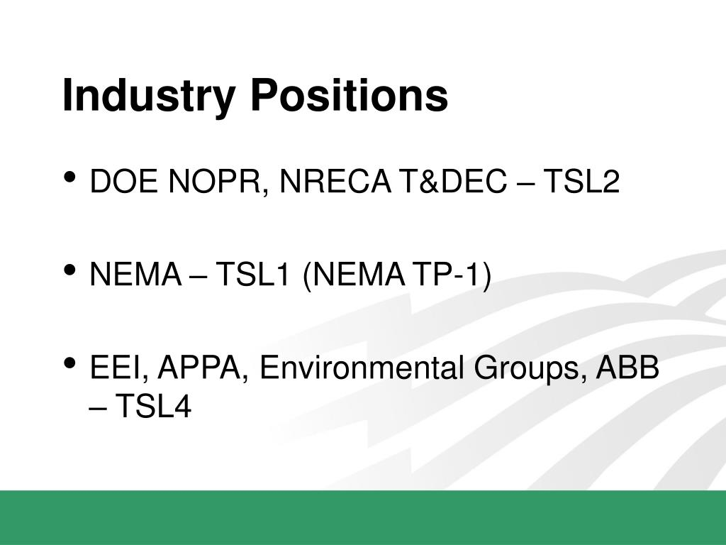 Industry Positions