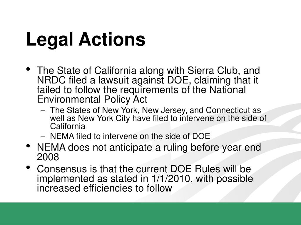 Legal Actions