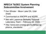 nreca t dec system planning subcommittee involvement