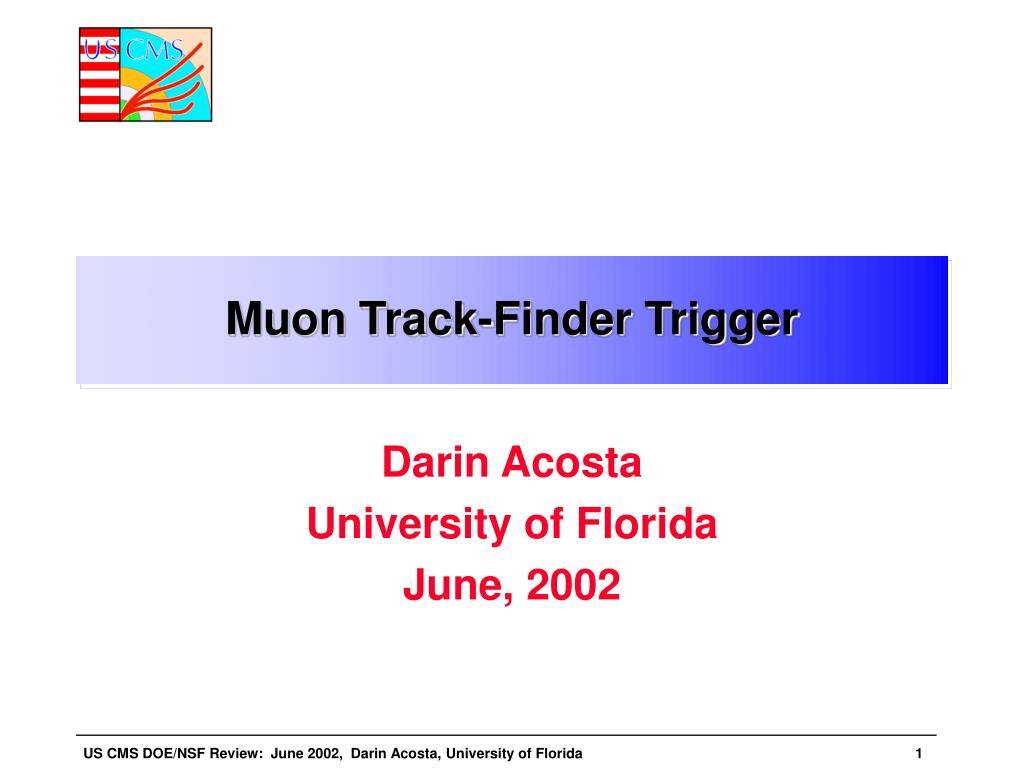 Muon Track-Finder Trigger