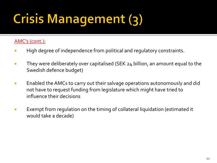 Crisis Management (3)