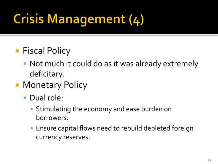 Crisis Management (4)