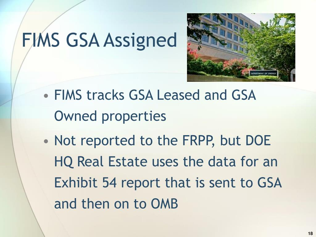 FIMS GSA Assigned