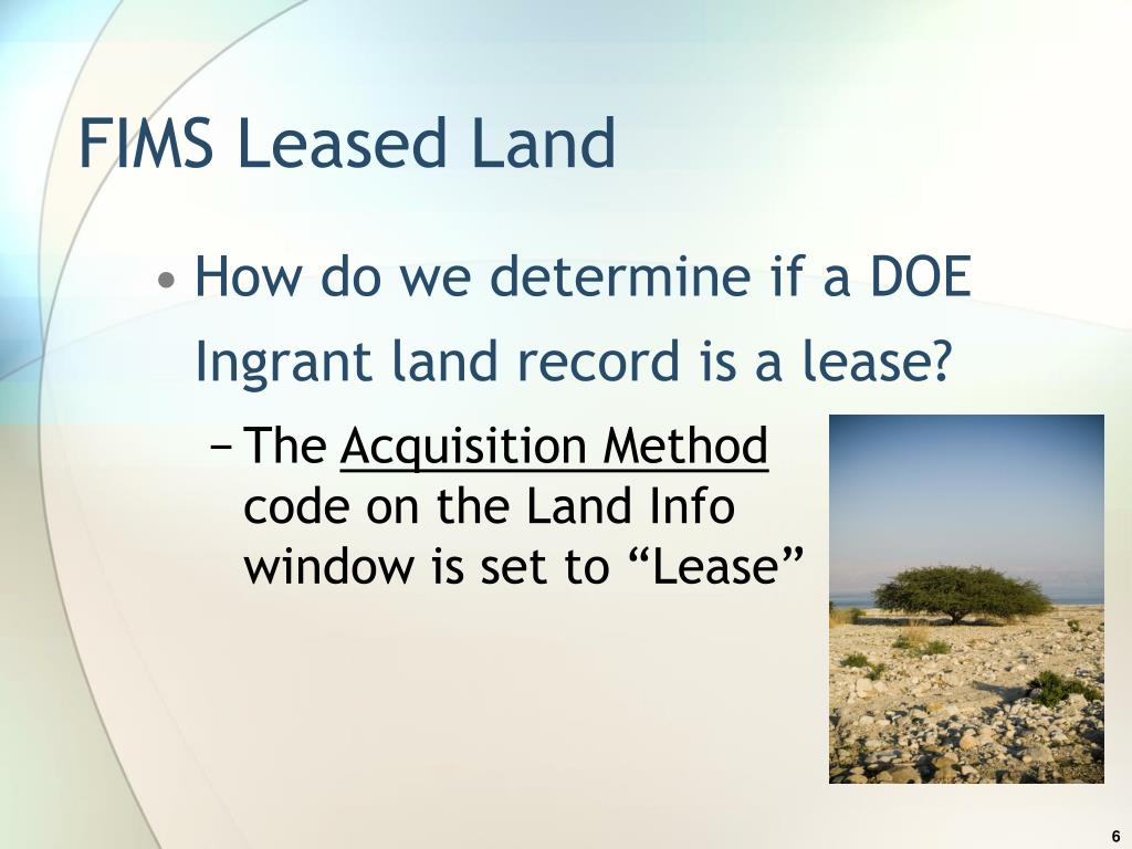 FIMS Leased Land