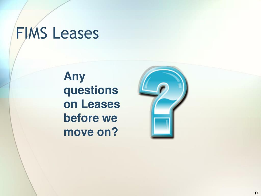FIMS Leases