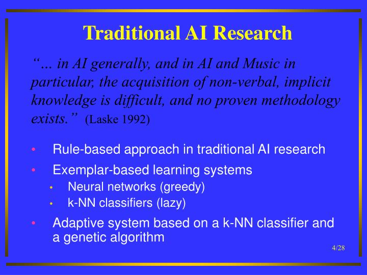 Traditional AI Research