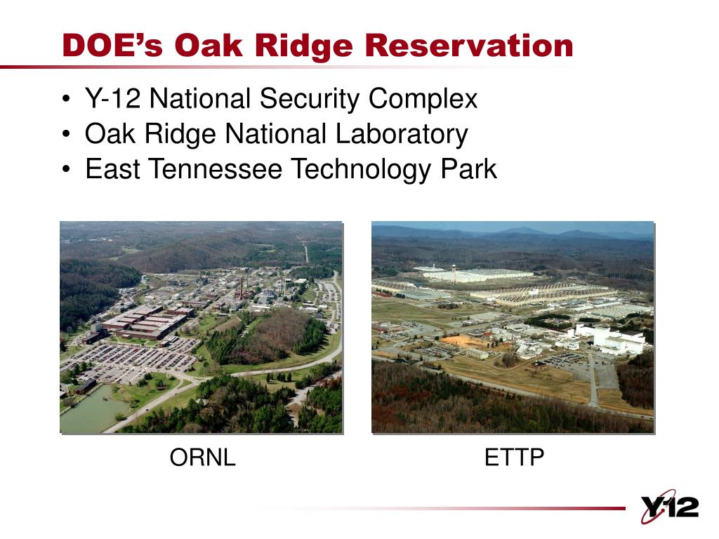 DOE's Oak Ridge Reservation